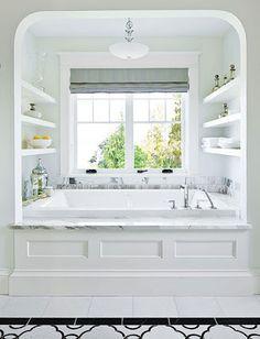 bathroom open shelves - Google Search