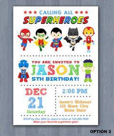 Invitación del superhéroe cumpleaños invitación por KidzParty