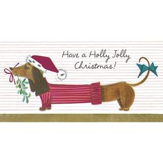 Holiday Boxed Cards Dachshund 14ct