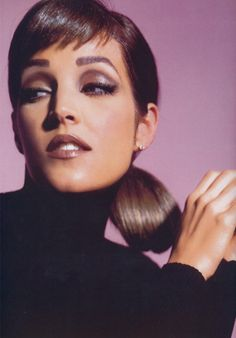 """Lisa Marie Presley from the book """"Making Faces"""" by Kevyn Aucoin."""