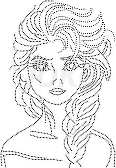 Frozen Tambour Embroidery, Paper Embroidery, Embroidery Patterns, String Art Templates, String Art Patterns, Dot Patterns, Kawaii Cross Stitch, Tiny Cross Stitch, Kirigami