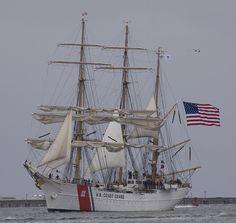 Coast Guard Cutter Eagle arriving in Boston Harbor, July 25, 2013