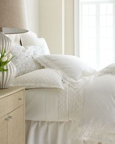 """Emily"" #Bed #Linens at #Horchow #Home #Bedroom #Bedding #Decor"