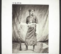 A Kurg carrying his weapons. India. :: International Mission Photography Archive, ca.1860-ca.1960    #Kurg #Weapons #India