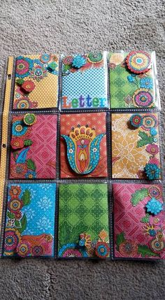 This paper is the Bohemian Design by Graphic 45. I love the bright colors and designs. [GG}
