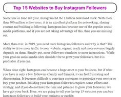 Looking for legit websites to buy Instagram followers? Followersvilla has done a great search for you. They have tested many websites and they have the best options for you. Buy Instagram Followers, Real Followers, Perfect Image, Perfect Photo, Love Photos, Cool Pictures, Cool Websites, Thats Not My, Good Things