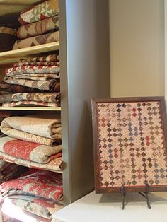 Like the framed one - interesting way to display a small quilt.