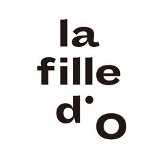 La Fille d'O identity and website (2015) - Fonts In Use