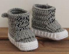 Crochet PATTERN baby boys sneakers Federation por Inventorium