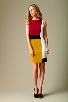 Calvin Klein Colorblocked Sheath Dress #calvinklein