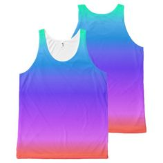 Shop Bright Pastel Rainbow All-Over-Print Tank Top created by BlueRose_Design. Printed Tank Tops, Rainbow Colors, I Shop, Athletic Tank Tops, Pastel, Bright, Unisex, Prints