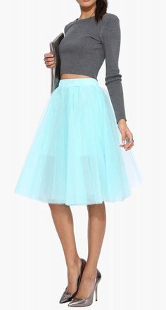 THIS is so my style. LOVE this. Black Swan Skirt in Mint