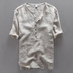 Italy brand simple fashion men shirt casual linen shirt men solid flax breathable summer shirt mens clothing Camisa masculina