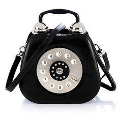 Clutch bag purse vintage telephone