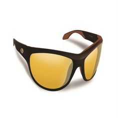 Flying Fisherman Cayo Matte Bronze w-Yellow Amber Sunglasses