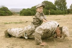 This is one of my friends from the marines. He and his little boy are so cute.