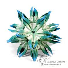 #polyhedra #origami #kusudama #lukasheva_ekaterina #passiflora_fire