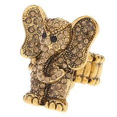 Vintage Style Elephant Shape Elasticity Ring - USD $ 4.79