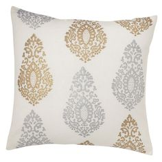 "westelm ""hand-blocked paisley pillow cover"""