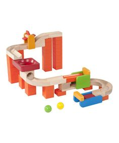 Take a look at this Spin & Swirl Wooden Ball Run Set by Wonderworld on #zulily today!