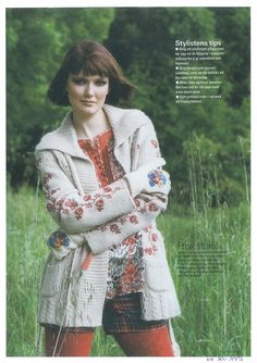 Odd Molly embroidered cardigan & printed silk blouse in KK Norway September 2007
