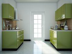 Green modular kitchen designs