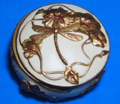 Art Nouveau Dragonfly Jewelry Box  -  irmabeads.com