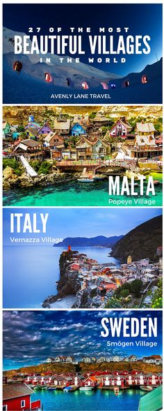 Explore 27 of the Most BEAUTIFUL Villages in the World! Because the best way to experience a fundamentally different culture is to explore the smaller villages away from the big cities. Click through to see more!