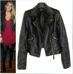 free shipping 2013 new winter women coat the short paragraph diagonal zipper motorcycle leather jacket PU leather clothes A105 $34.79