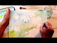 Watercolor Painting May Flowers Lesson 1