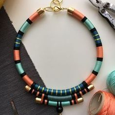 Image result for diy african rope necklace