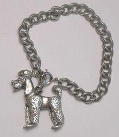 1950s Napier Pepe Poodle Charm Bracelet