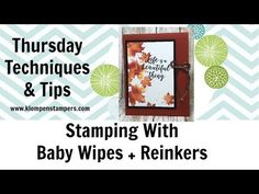 New Video: Stamping With Baby Wipes | Klompen Stampers