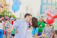 Disney World Engagement Session at Magic Kingdom   Tampa Modern-Vintage Wedding Photographer