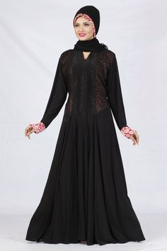 5752932890ed Description :- Color :- BlackFabric :- LycraWork :- StoneSize :- Up to 44  InchesType :- StitchedLength :- 56 InchItem Type:- Abayas, BurqasWeight :-  Ib ...