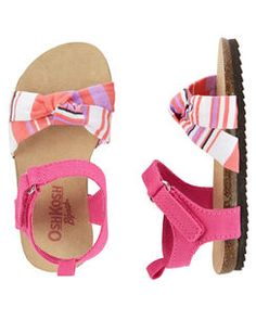 Toddler Girl OshKosh Knot Bow Sandals from OshKosh B'gosh. Shop clothing & accessories from a trusted name in kids, toddlers, and baby clothes. Little Girl Shoes, Cute Baby Shoes, Toddler Girl Shoes, Baby Girl Shoes, Little Girl Fashion, Boys Shoes, Kids Fashion, Bow Sandals, Kids Sandals