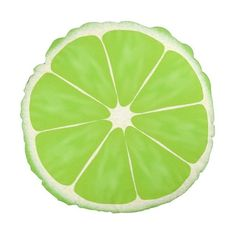 Green Citrus Lime Fruit Slice Round Pillow (42 CAD) ❤ liked on Polyvore featuring home, home decor, throw pillows, fruit home decor, green throw pillows, lime green home decor, lime green home accessories and round toss pillows