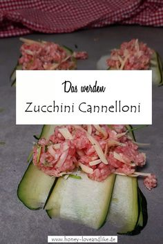 So machst du Zucchini Cannelloni!  #zucchini #ZucchiniCannelloni! Low Carb Recipes, Good Food, Vegetables, Cooking, Easy Peasy, Party Ideas, Gratin, Low Carb Food, Food Food