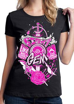 Steven Universe Shirt Fight Like A Gem by UnicornEmpirePrints