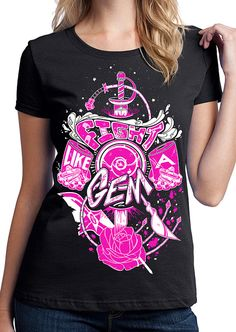 Steven Universe Shirt - Fight Like A Gem T-Shirt - Steven Universe T-Shirt…