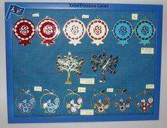 Υλικά για γούρια. Μεταλλικά στοιχεία με σμάλτο ιδανικά για να κατασκευάσετε γούρια. Metal tree of life charm with enamel made in Greece.