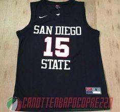 canotte nba poco prezzo NCAA San Diego State University LEONARD # 15 nero