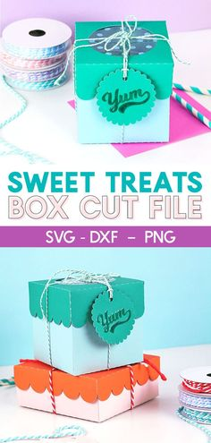 DIY paper treat boxe