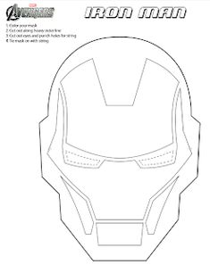 Iron Man 3 is coming to theaters SOON! Your kids can get ready for the excitement by printing and coloring this FREE printable Iron Man mask. Iron Men, Cake Templates, Mask Template, Masque Iron Man, Iron Man Kuchen, Pastel Iron Man, Iron Man Party, Stencils