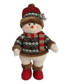 Love this Happy Sweater Snowman Figurine on #zulily! #zulilyfinds