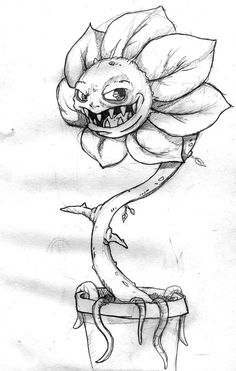 Drawings of easy flowers easy sketch of a flower flower sketch ideas inspirational evil flower sketch Creepy Sketches, Scary Drawings, Trippy Drawings, Dark Art Drawings, Art Drawings Sketches Simple, Pencil Art Drawings, Scary Halloween Drawings, Creative Pencil Drawings, Cool Sketches