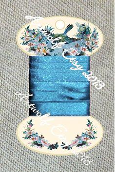 INSTANT DIGITAL DOWNLOAD Ribbon Thread Keeper Blue Bird Ribbon Twine Floss Tidy Bobbin Keeper Card Set Download Printable Gifts