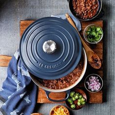 Le Creuset Dutch Oven  Braise your heart out with this universally-coveted, heavy bottomed, do-it-all pot that is the perfect vessel for everything from soup and stew to short ribs and cassoulet. The fact that it glides seamlessly from stovetop to oven without missing a beat, is just gravy.  Le Creuset Signature Cast-Iron Matte Round Dutch Oven, $470