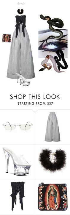"""""""Sin título #158"""" by b-e-b-a ❤ liked on Polyvore featuring Jean-Paul Gaultier, Jacquemus, Pleaser, Frasier Sterling, Maison Margiela and Ventidue"""