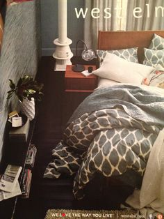 West elm, grey bedding
